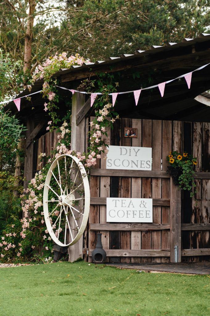 DIY wedding scone station
