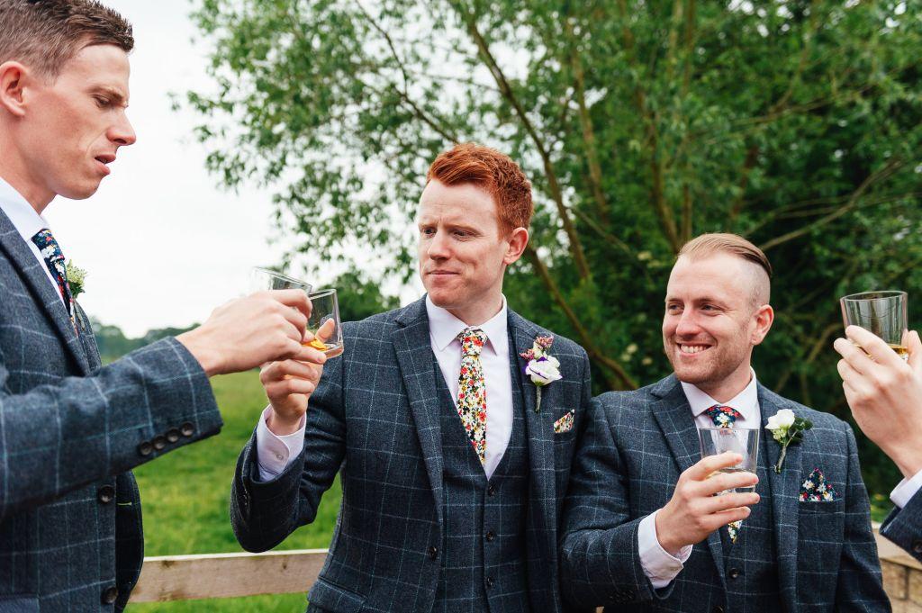 Fun, natural groomsmen photography