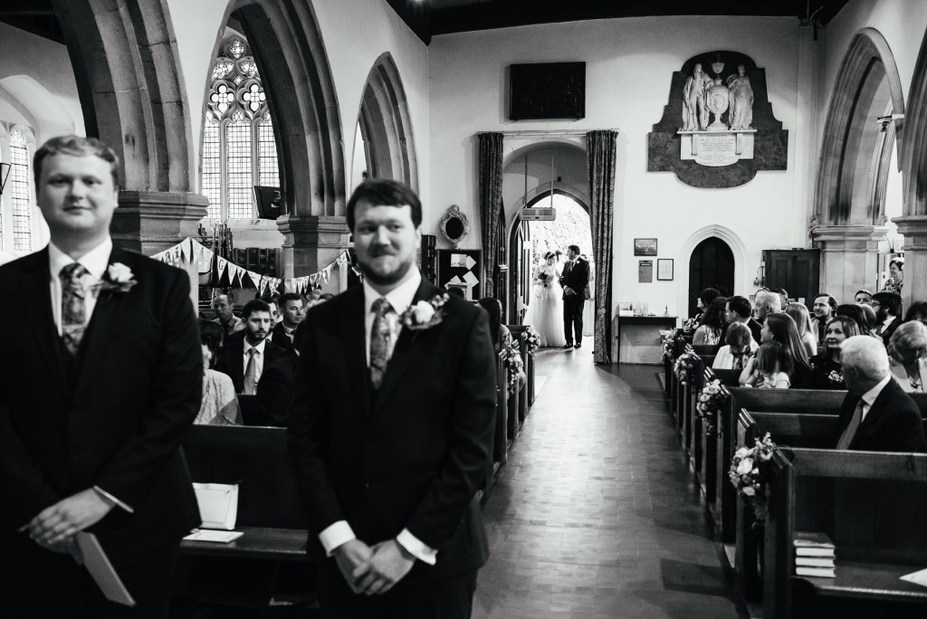Traditional church service ceremony wedding Surrey