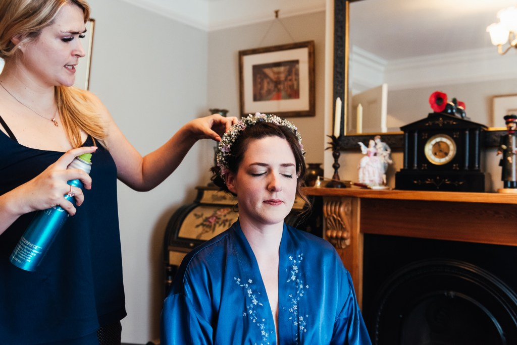 Natural bridal preparation photography