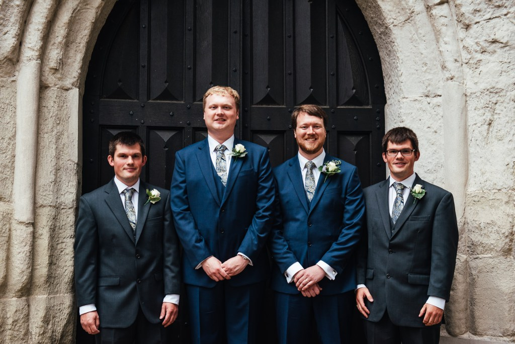 Groomsmen portrait, Surrey wedding photographer