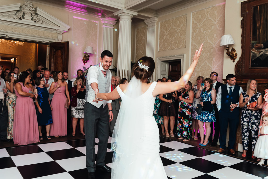 Fun dance floor wedding photography