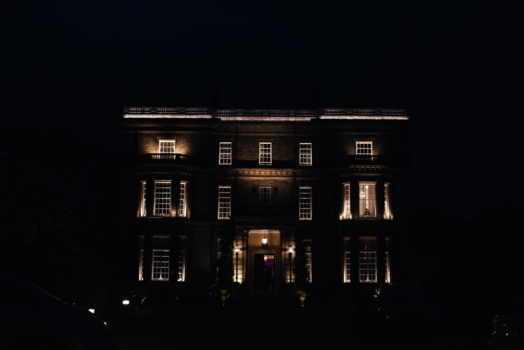 Hedsor House Silhouette at night