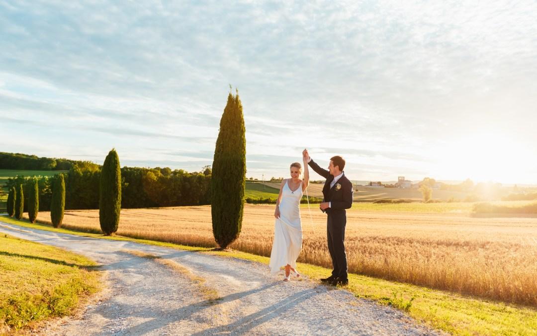 Destination Wedding Photography France – An Outdoor Vineyard Wedding