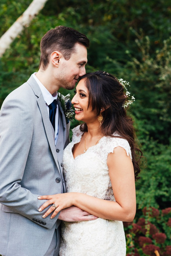 relaxed and intimate wedding portrait