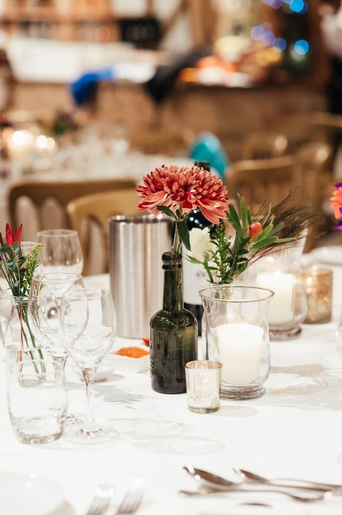 Wedding table decoration, South Farm Wedding