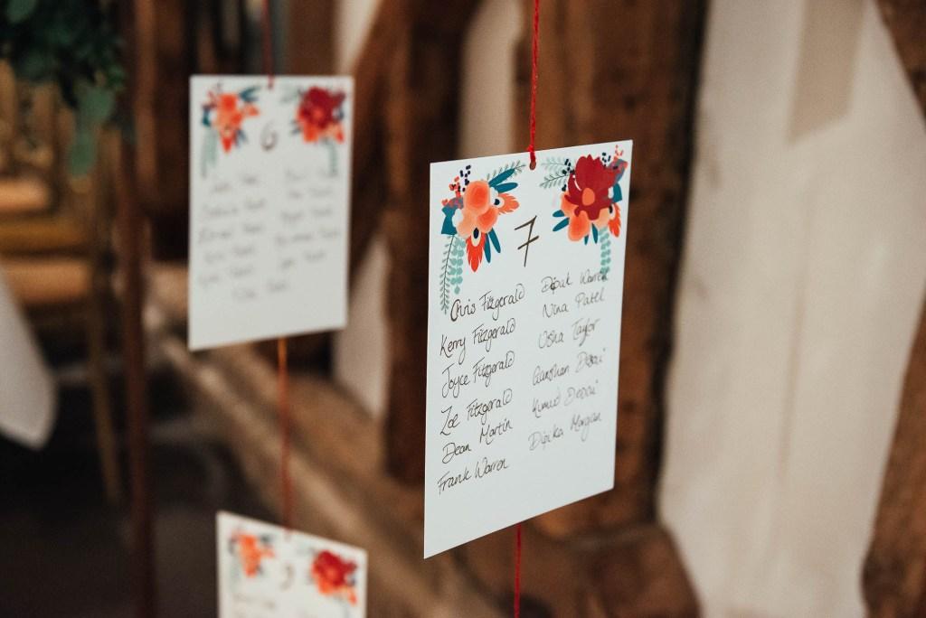 Creative wedding table setting