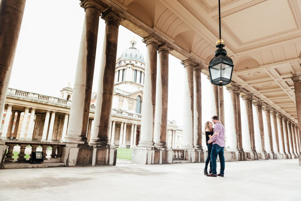 Relaxed engagement photoshoot Greenwich London