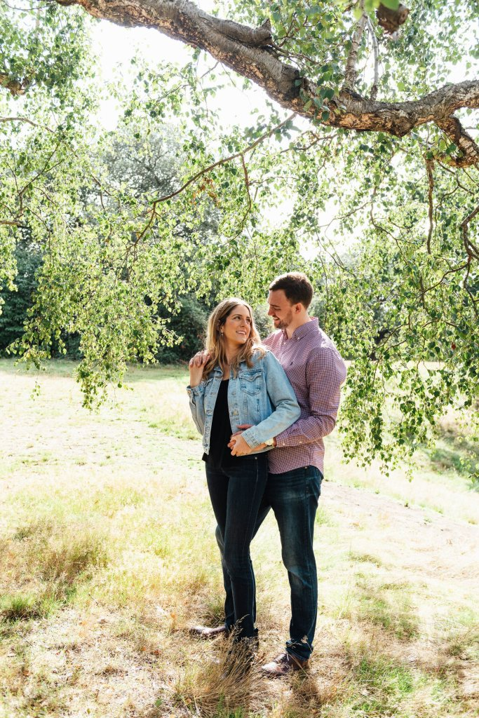 Relaxed Romantic Summer Lit London Pre-Wedding Shoot