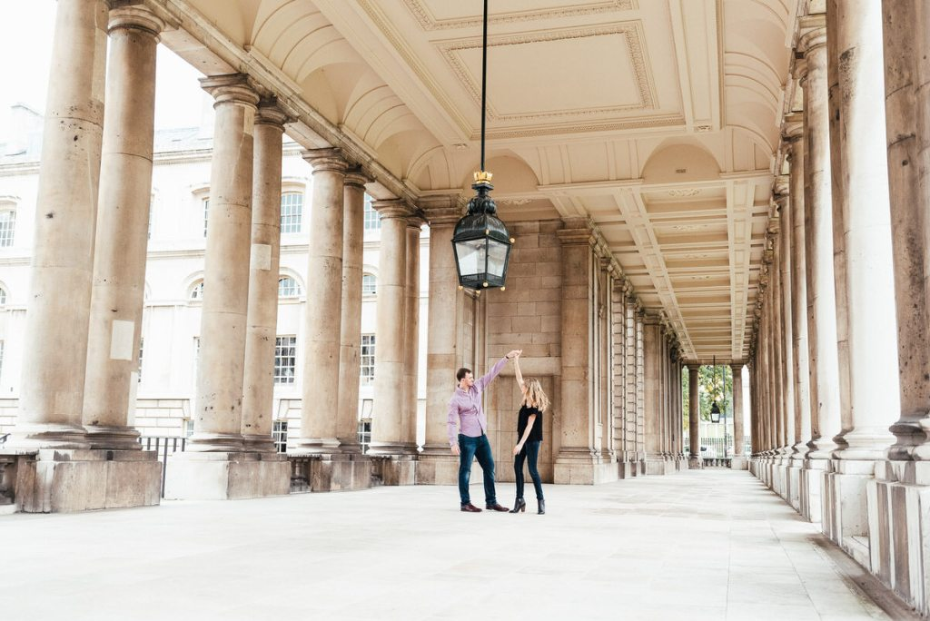 Greenwich engagement couples photoshoot