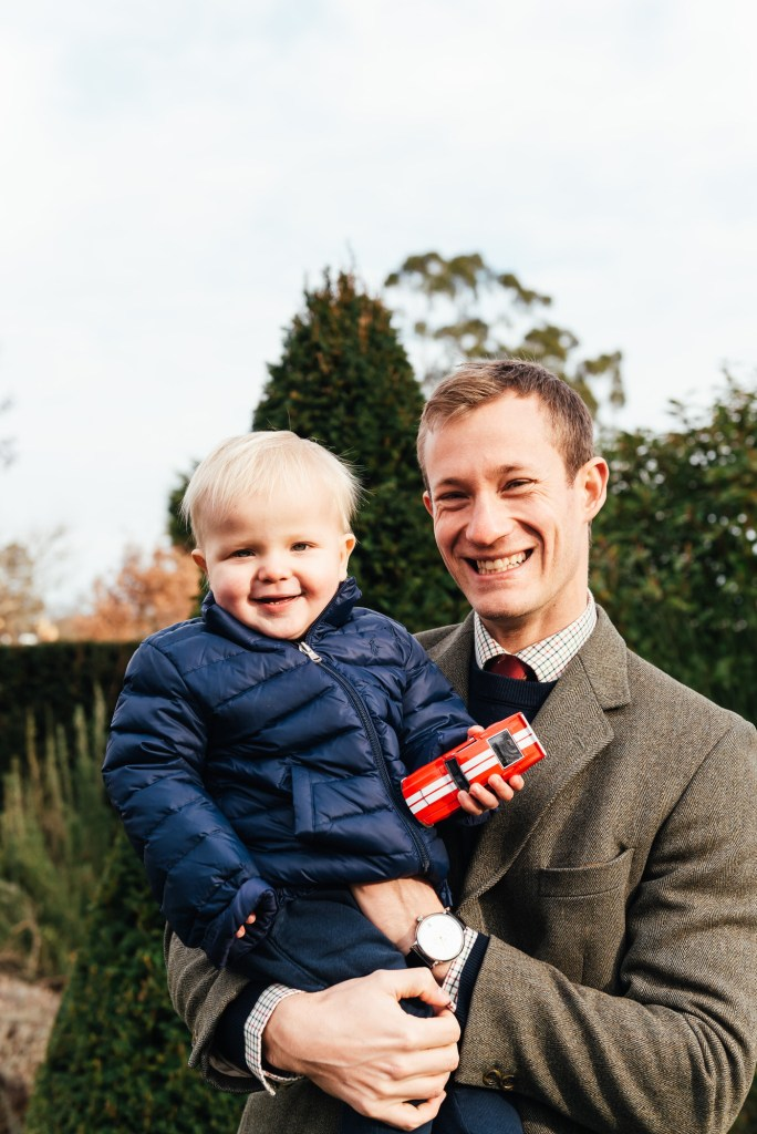 Natural Father and son portrait, Surrey family photographer