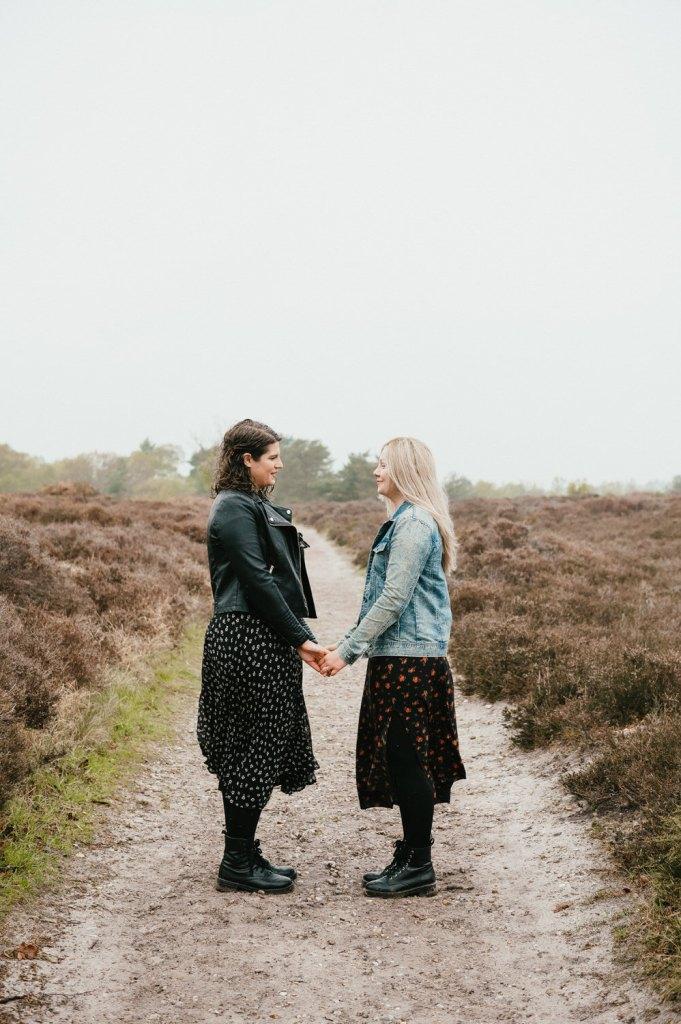 Suffolk engagement shoot, Dunwich Heath