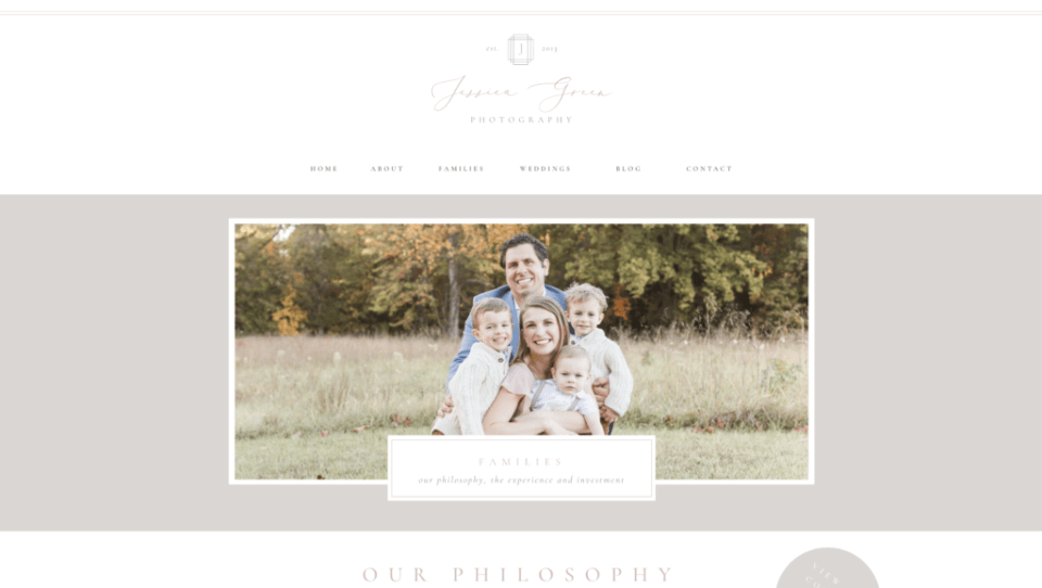 Jessica Green Photography Families Page