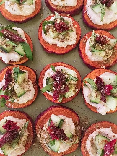 Sweet Potato Round Appetizer