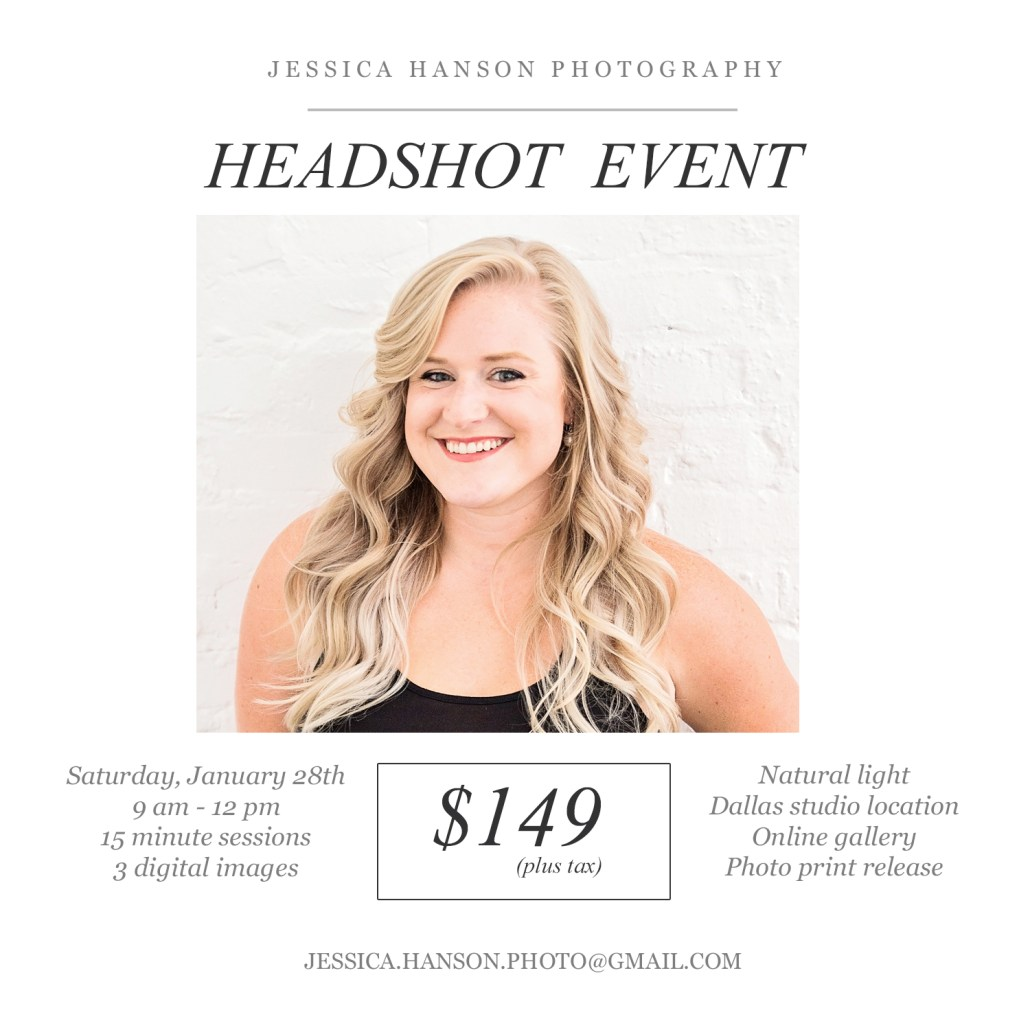 Dallas Headshot Mini Sessions Are Here!