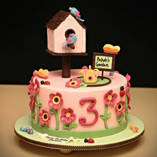 i was delighted to make this sweet garden birthday cake for a little 3 year old girl from corvallis her mom is a friend of mine from college and i remember - Garden Design Birthday Cake