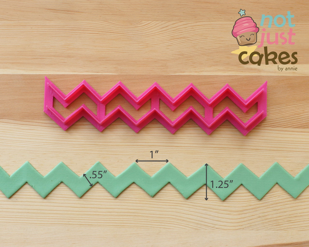 Template tuesday chevron cake design jessica harris for How to make a chevron template