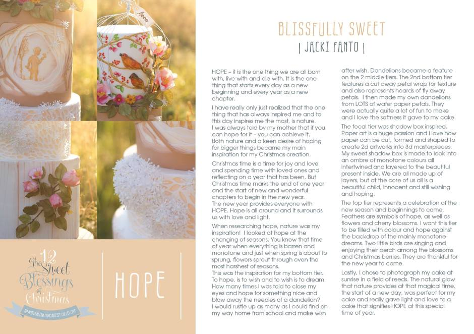 Day 11 Hope Explained by Jacki Fanto of Blissfully Sweet