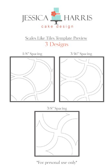 Scales Like Tiles Template for three designs for shop
