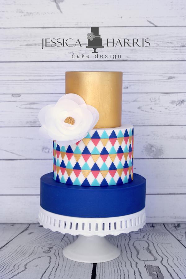 Modern Triangles Cake Template - 2 Designs (FREE ...