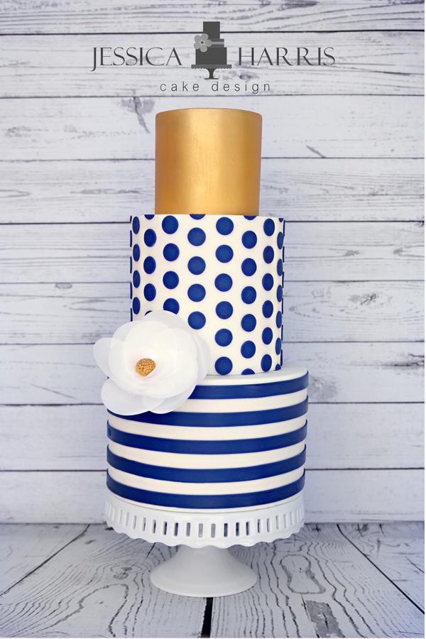 Large Polka Dot Cake Template - 4 Designs - Jessica Harris ...