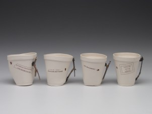 Green-washed Tea Set - cups