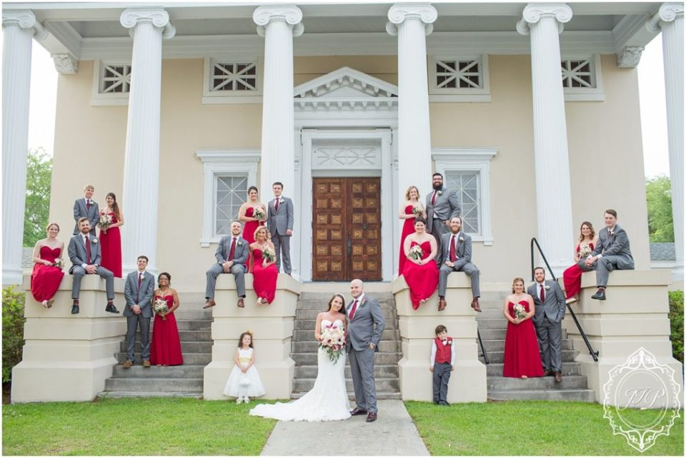 Elegant Southern Charcoal and Maroon Wedding_0053