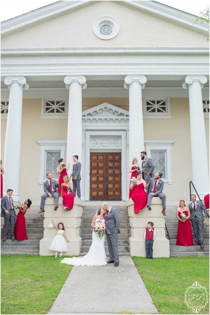 Elegant Southern Charcoal and Maroon Wedding_0054