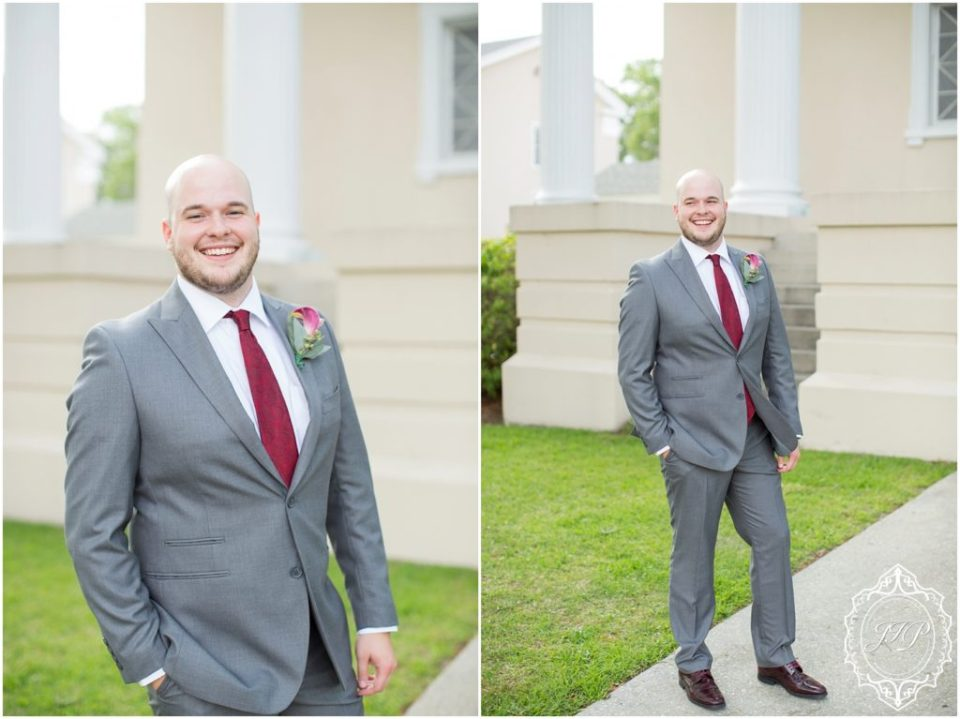 Elegant Southern Charcoal and Maroon Wedding_0110