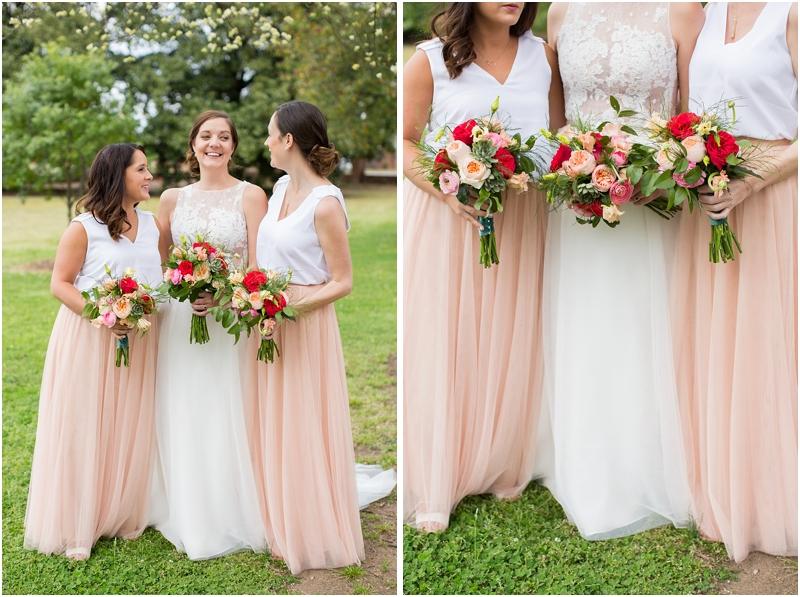 Pink spring wedding