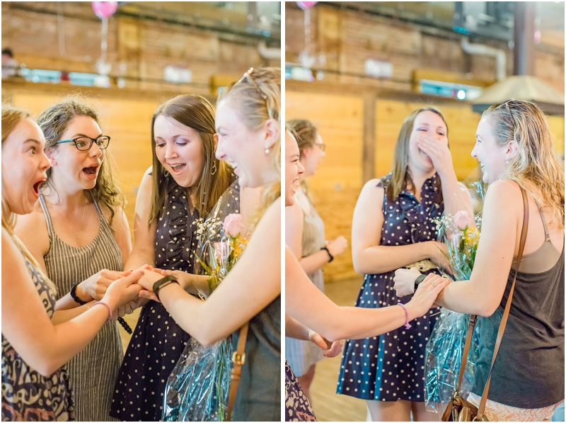 surprised happy reactions to engagement ring