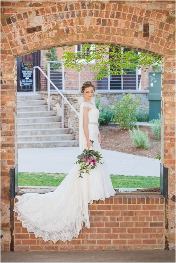 Bride Falls Park Greenville SC Bridal Session