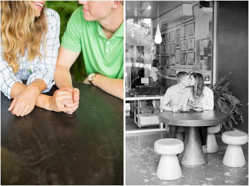 Drip Coffee Five Points Columbia SC summer engagement portraits