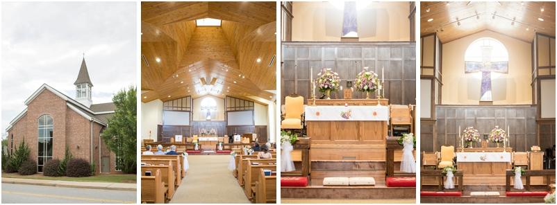 Greenville SC church wedding