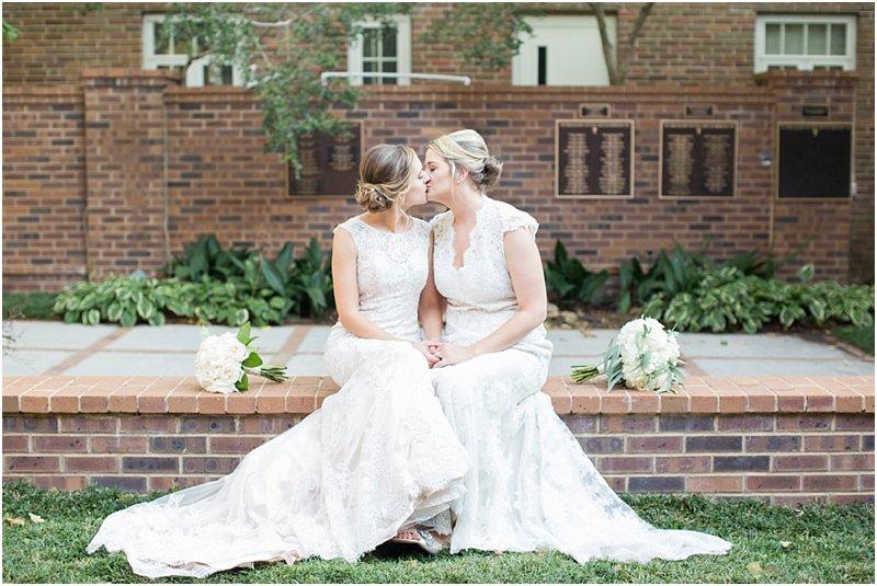lesbian couple wedding