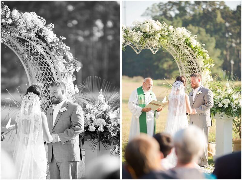 casual backyard wedding