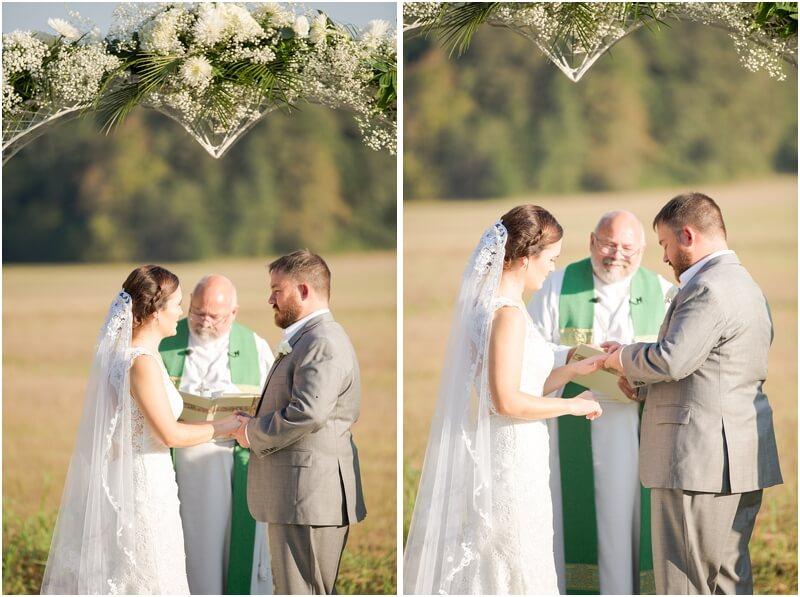 wedding in backyard