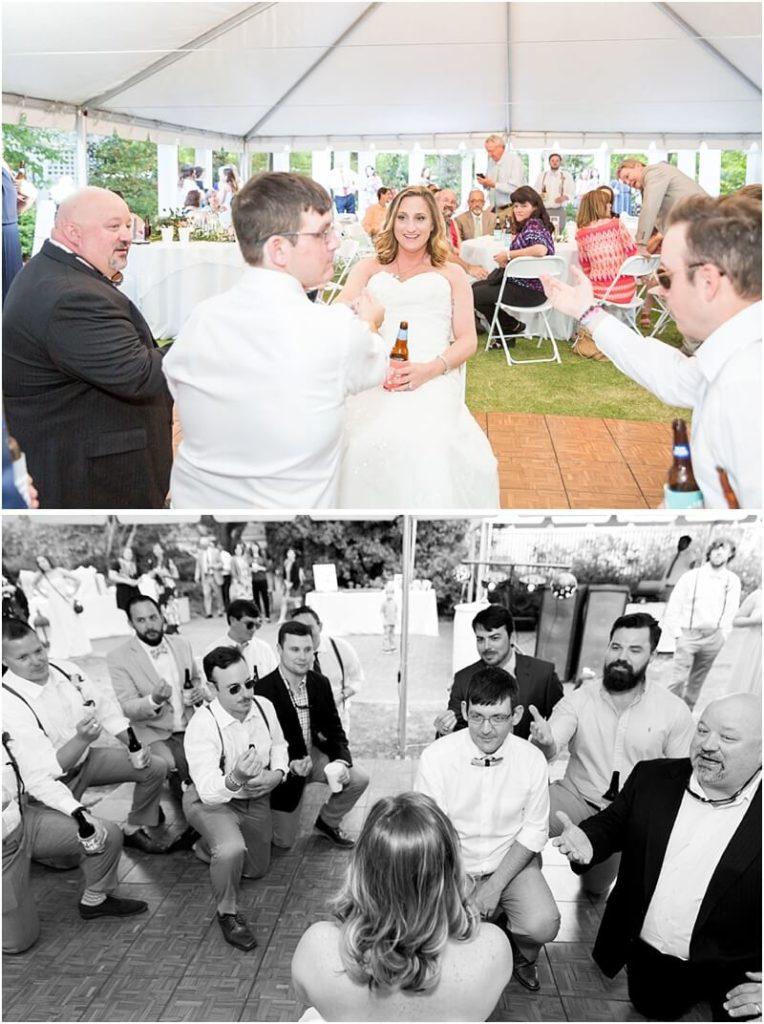 Wedding reception at Kalmia Gardens