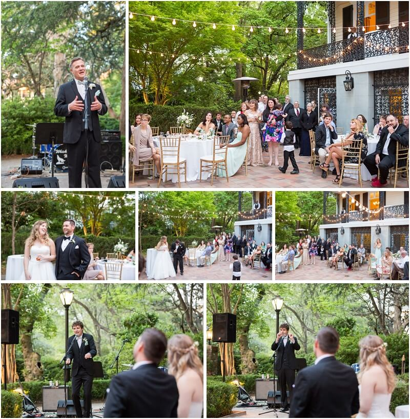 Outdoor wedding at The Lace House SC