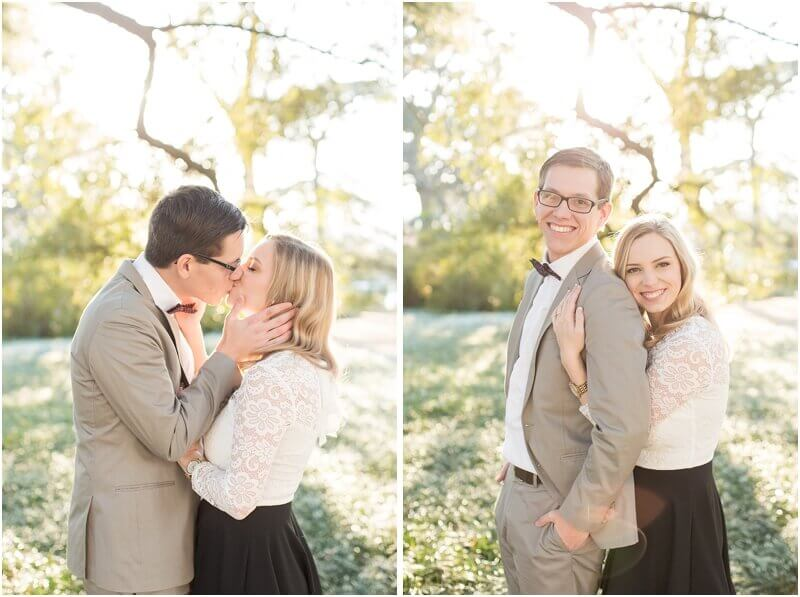 engaged couple kissing in columbia, SC by Jessica Hunt Photography