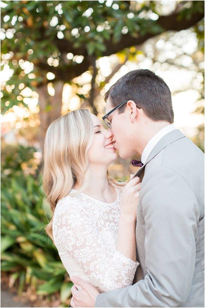 couple kissing engagement photos columbia, sc