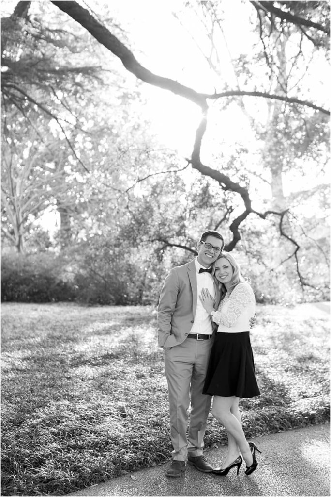 black and white engagement pictures south carolina