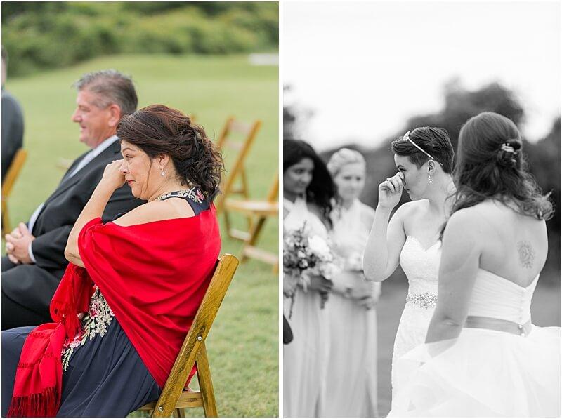 LGBTQ+ Citadel Beach Club Wedding Ceremony Emotions
