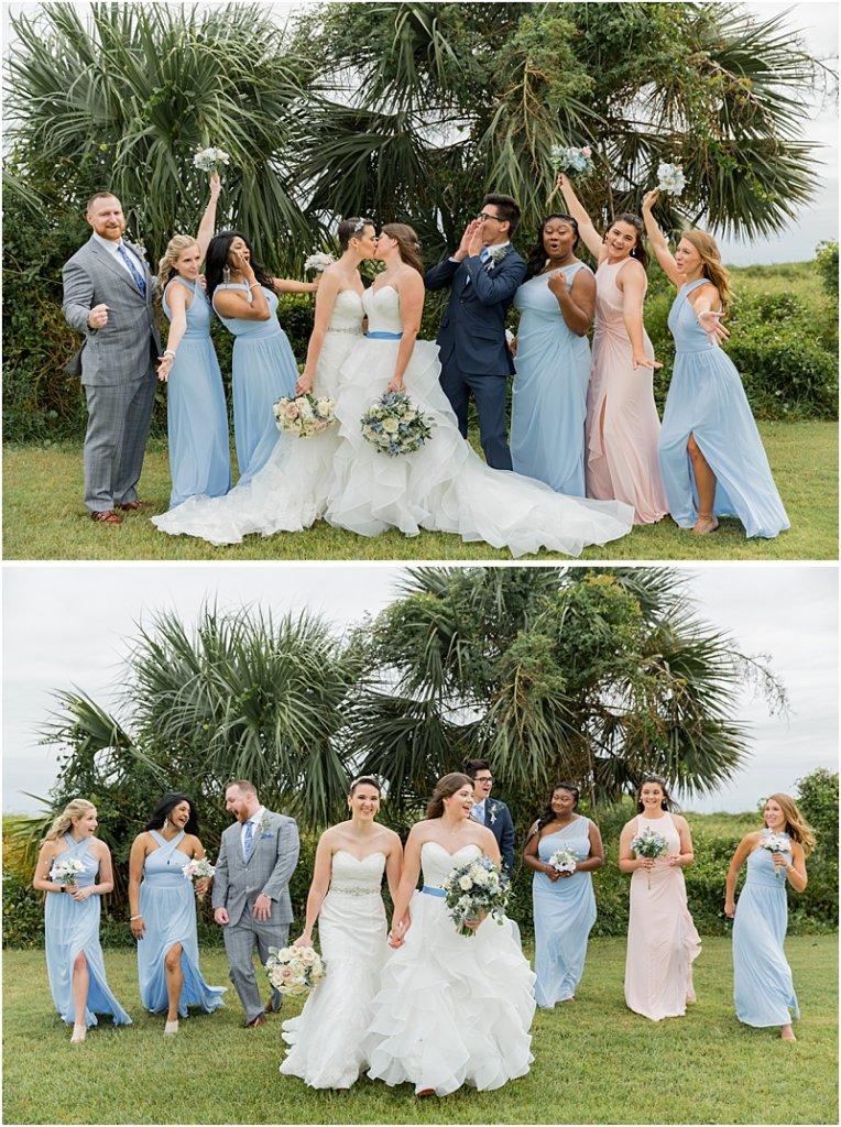 LGBTQ+ Citadel Beach Club Wedding Party Celebrates the Couple