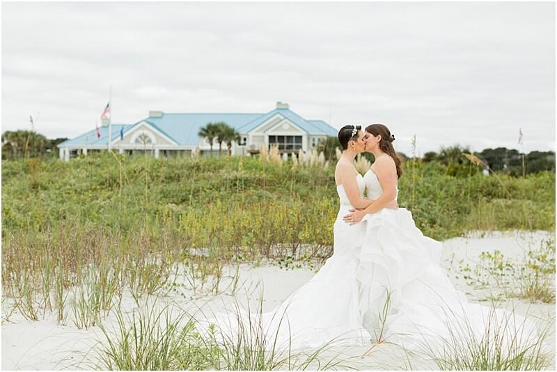 LGBTQ+ Citadel Beach Club Couple's Bridal Portraits
