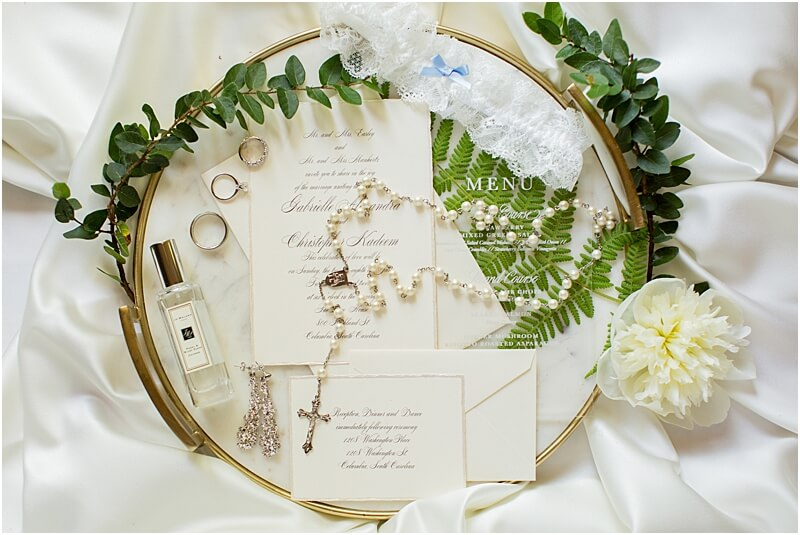 Columbia, SC Wedding Invitation Suite and Details by SC Photographer at Lace House at Arsenal Hill