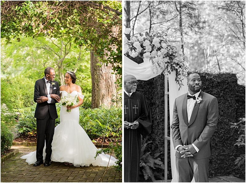Columbia, SC Wedding Ceremony at Lace House at Arsenal Hill