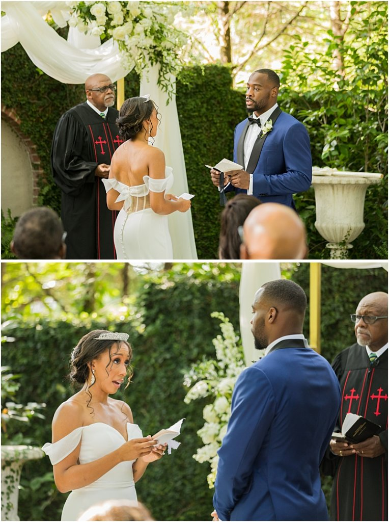Columbia, SC Couple Reads Vows at Lace House at Arsenal Hill