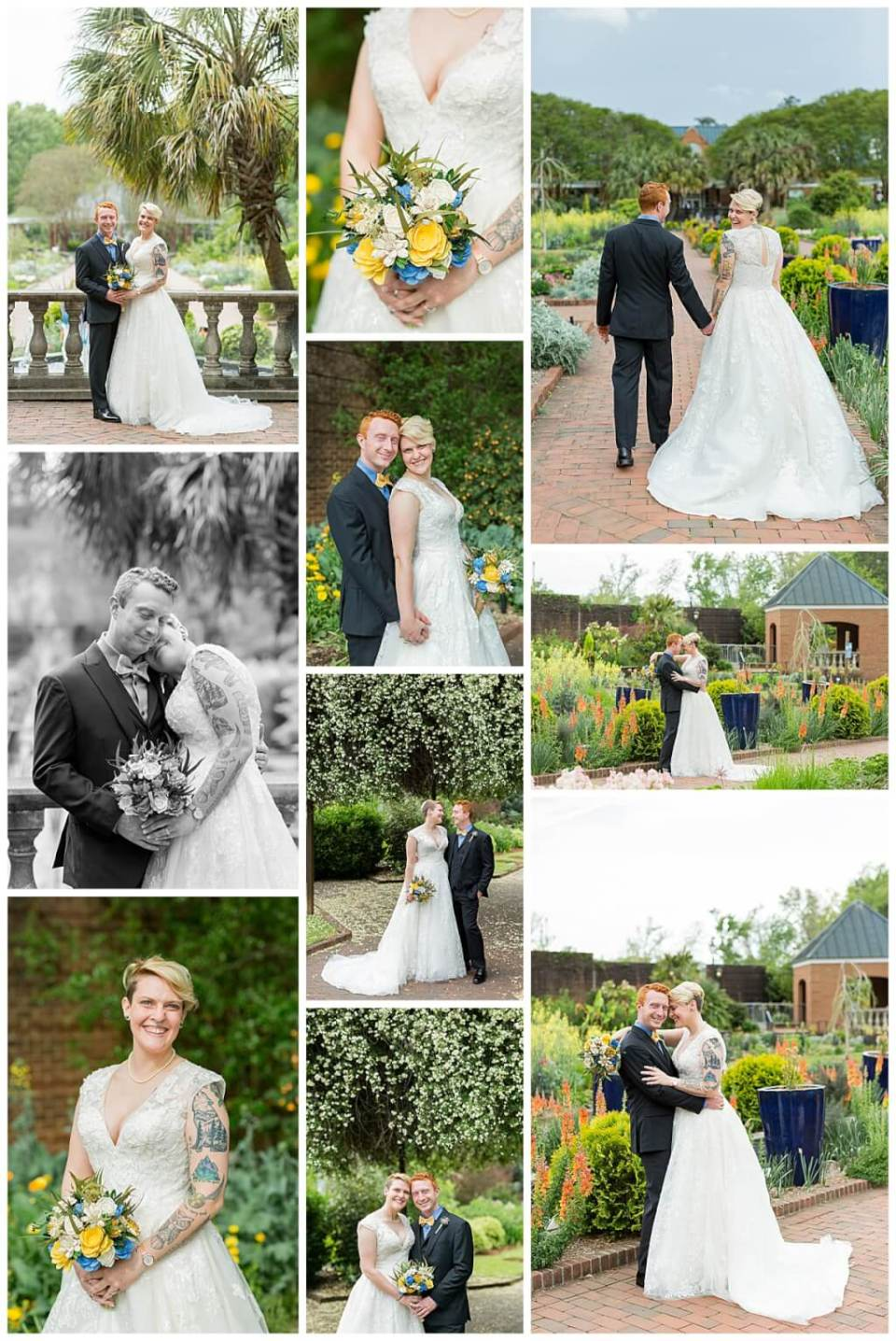 Riverbanks Zoo Botanical Gardens Wedding Couple Photos