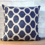 Etsy blue biege pillow